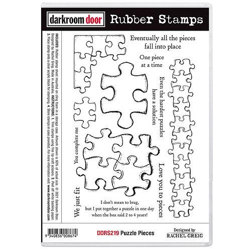 Darkroom Door - Puzzle Pieces  Cling Rubber Stamp