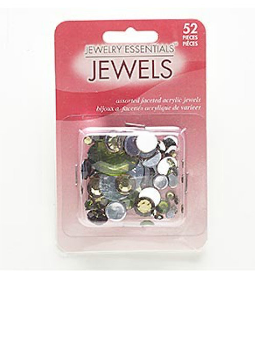 Acrylic Bead Mix approximately 52 beads Cabochon