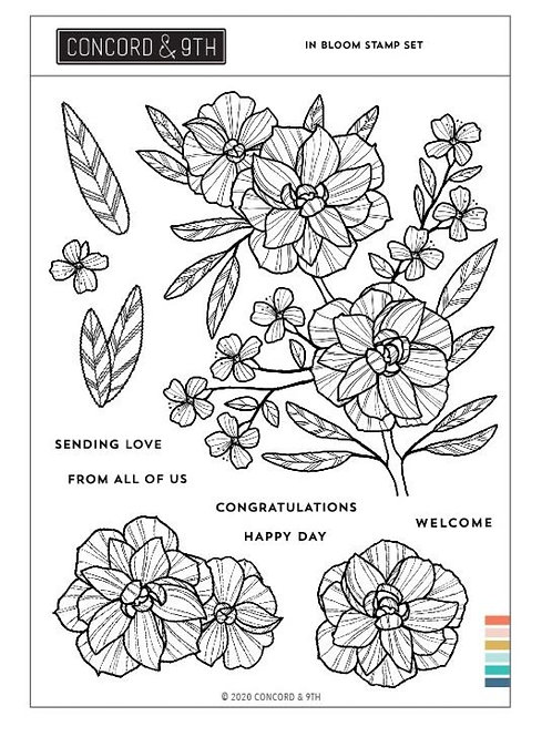 """Concord & 9th Clear Stamps 6""""X8"""" In Bloom"""