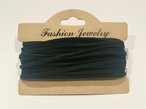 5m Black Faux Suede Cord Thread String Jewellery Making Bracelet