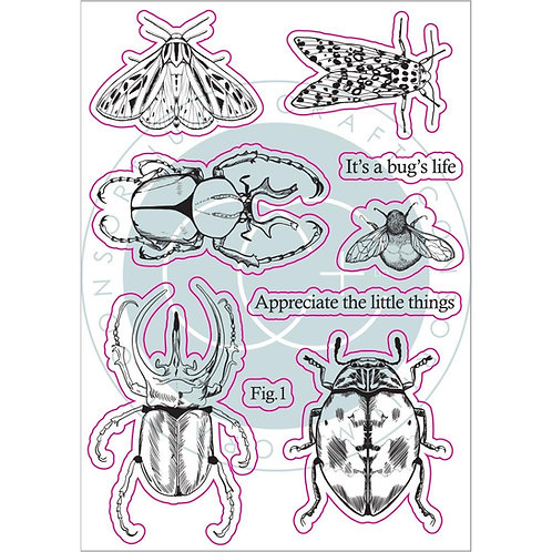 Craft Consortium Clear Silicon Stamps - Beetles