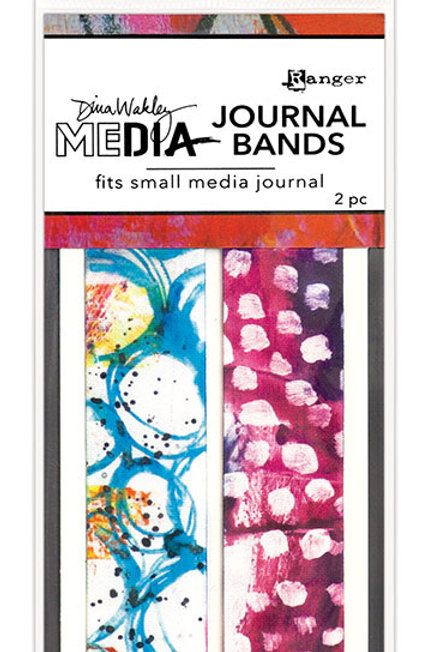 Dina Wakley Printed Journal Bands - Fits Small Journal