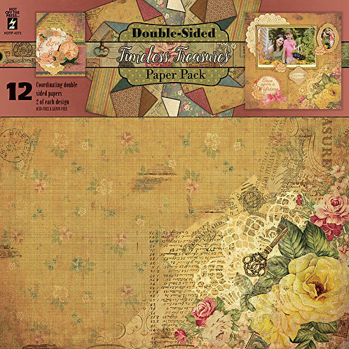 """""""Timeless Treasures"""" 12x12  Scrapbooking & Project Paper 12pc pack"""