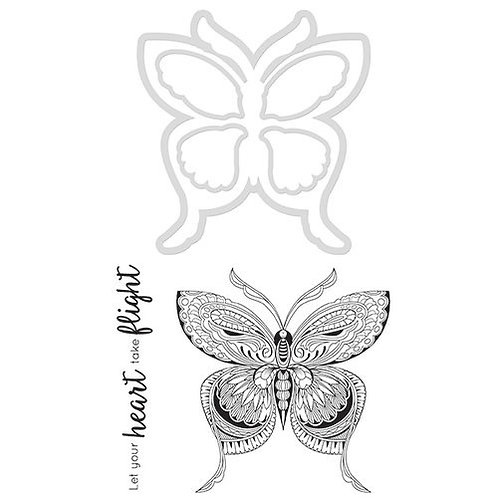 "Kaisercraft ""Butterfly"" Clear Stamps & Die Set"