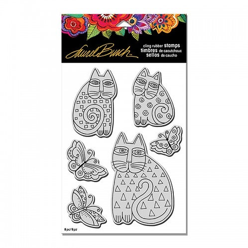 Indio Cat Set Stampendous Cling Mount Rubber Stamps