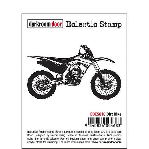 """Darkroom Door - """"Dirt Bike"""" Eclectic Rubber Stamp"""