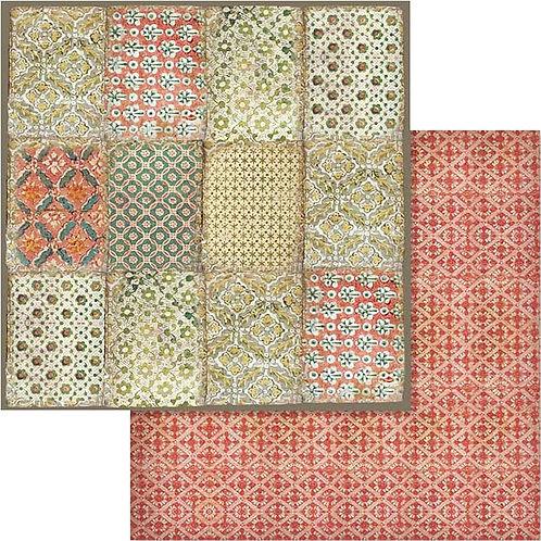 "Stamperia 12"" x12"" Paper  ""Winter Botanic Texture "" 1 Piece"