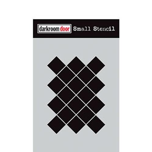 "Darkroom Door Stencil - ""Arty Mosaic""   4.5"" x 6"""