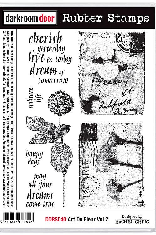 """Darkroom Door - """"Art De Flour Vol 2""""  Cling Rubber Stamp"""