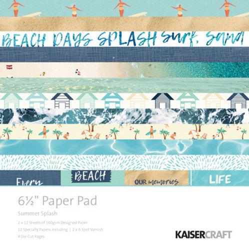 "Kaisercraft  6.5""x 6.5"" Paper Pad 24 pages ""Summer Splash """