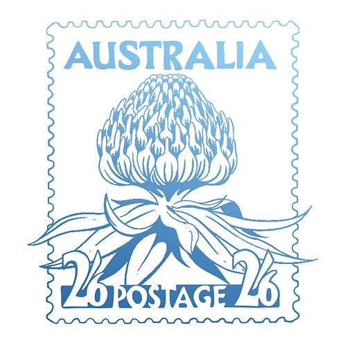 """Couture Creations Clear Stamp 1.9"""" """"Waratah Postage"""""""