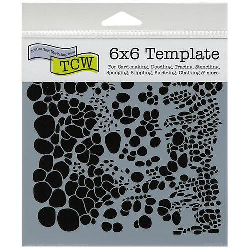"TCW - 6x6 Stencil -  ""Mini Cell Theory"""