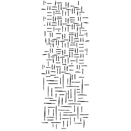 """Kaisercraft Clear Acrylic Stamp Texture  """"Woven Lines"""""""