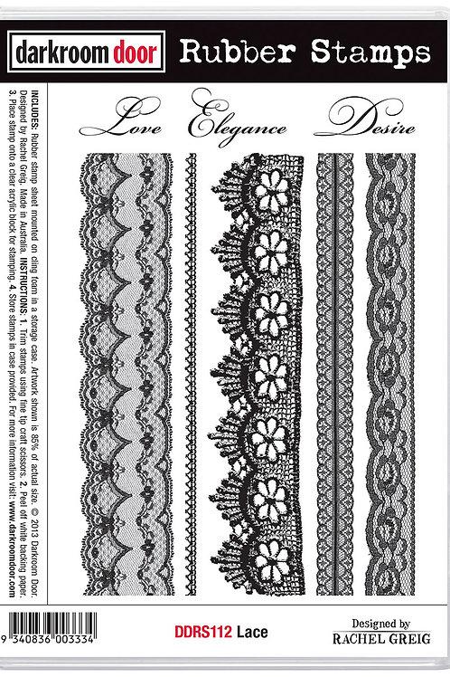 """Darkroom Door - """"Lace""""  Cling Rubber Stamp"""