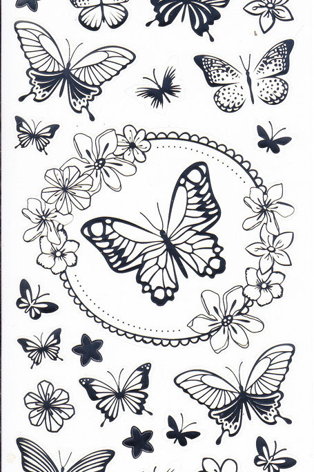 """Silver """"Butterfly"""" Stickers"""