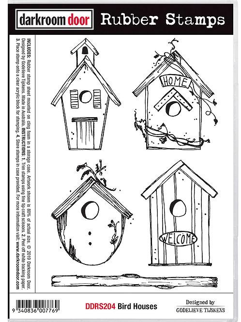 """Darkroom Door - """"Bird Houses""""  Cling Rubber Stamp"""