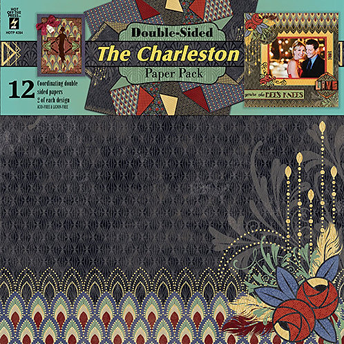 """""""The Charleston"""" 12x12  Scrapbooking Project Paper 12p"""