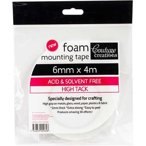 Couture Creations Foam Mounting Tape 6mmX4m