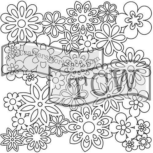 """TCW - 6x6 -  """"Mini Gathered Flowers"""""""