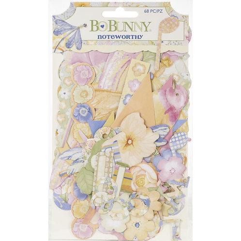 BoBunny Harmony Noteworthy Die-Cuts 68/Pkg