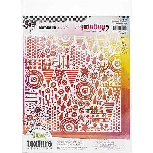 "Carabelle Studio Art Printing Rubber Texture Plate ""Jamboree"""