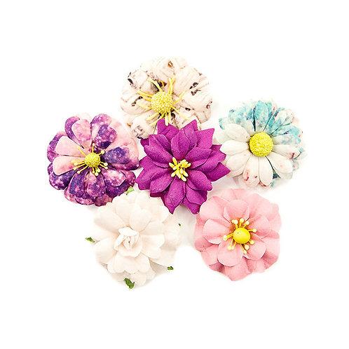 Prima Marketing  Paper Flowers 6 Pieces