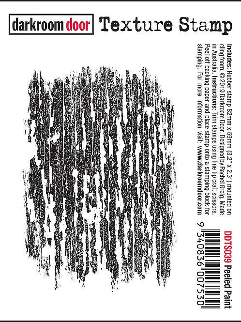 """Darkroom Door - """"Peeled Paint"""" Texture Rubber Stamp"""
