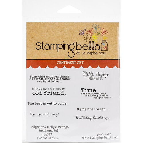 """Stamping Bella Cling Stamps""""Edgar & Molly's Vintage Sentiments"""""""