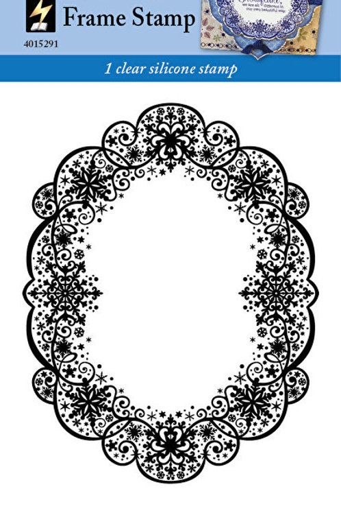 HOTP Snowflake Frame Clear Stamp 4x6