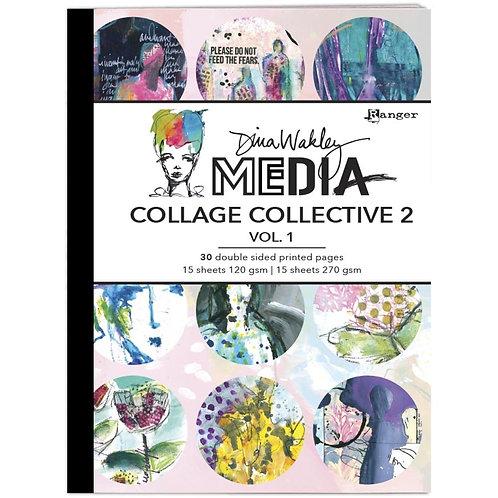 Dina Wakley Media Mixed Media Collage Collective Vol 1