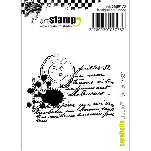 """Carabelle Studio Cling Stamp """"Juillet 1932"""""""