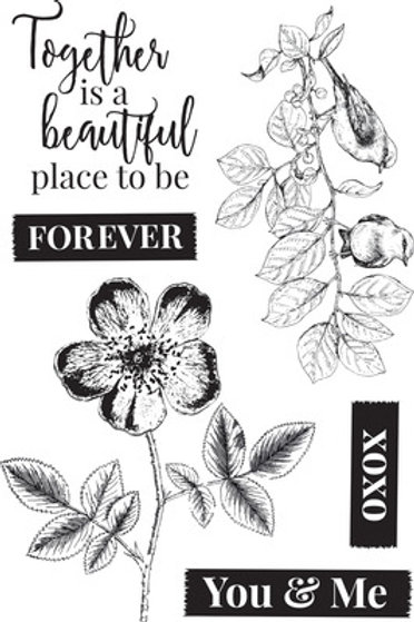 """Kaisercraft """"Everlasting"""" Clear Stamps 6""""x4"""""""