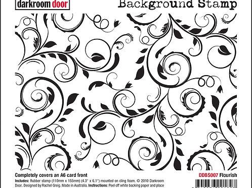 """Darkroom Door - """"Flourish""""   Background Rubber Stamp"""