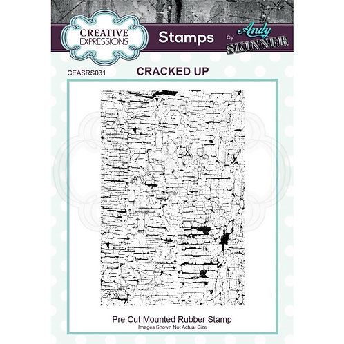 Cracked Up Creative Expressions Rubber Stamp By Andy Skinner