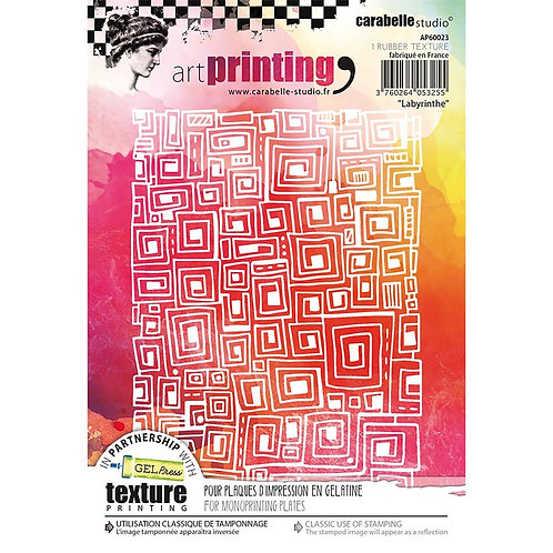 """""""Labyrinthe"""" Carabelle Studio Art Printing Square Rubber Texture Plate"""