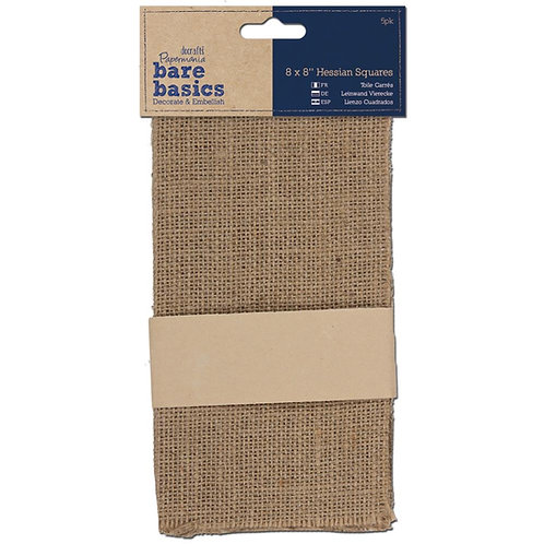 "Bare Basics Hessian Squares 8"" x 8"""