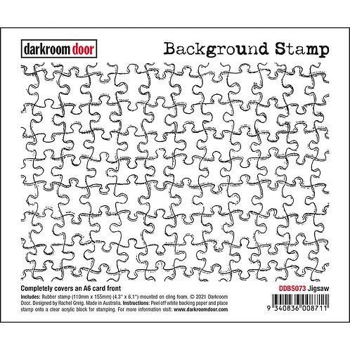 Darkroom Door - Jigsaw Background Rubber Stamp