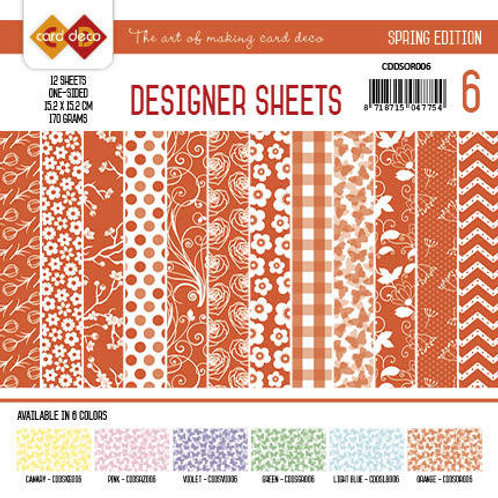 Card Deco - Designer Sheets 6X6 - 12 Sheets per pack