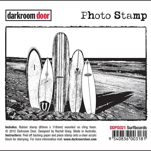 """Darkroom Door - """"Surfboards"""" Photo Rubber Stamp"""