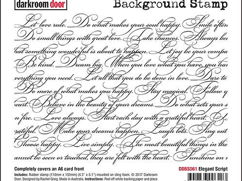 """Darkroom Door - """"Elegant Script""""   Background Rubber Stamp"""