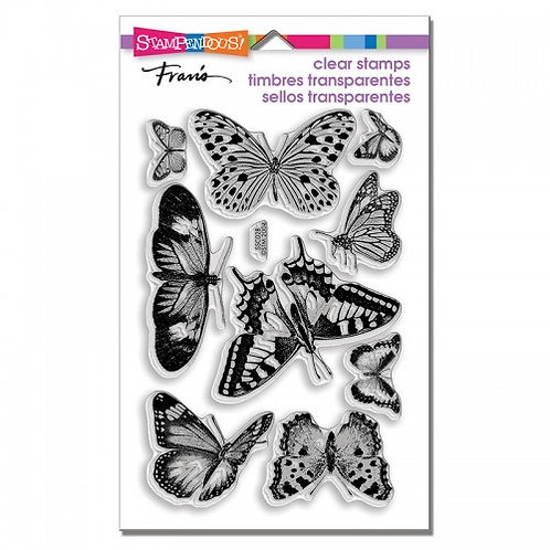 """Butterflies Stampendous Clear Stamps by Laurel Birch 4""""x6"""""""