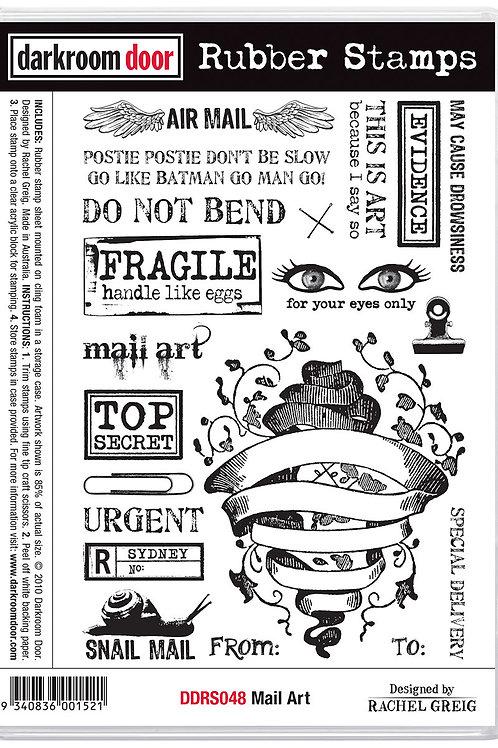 """Darkroom Door - """"Mail Art""""  Cling Rubber Stamp"""
