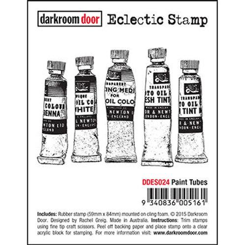 """Darkroom Door - """"Paint Tubes"""" Eclectic Rubber Stamp"""