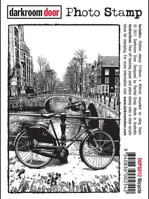 """Darkroom Door - """"Bicycle"""" Photo Rubber Stamp"""