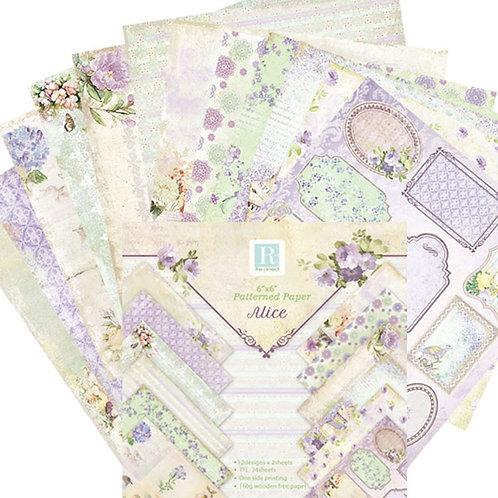 "6x6 inch ""Alice"" Design Paper Pack"