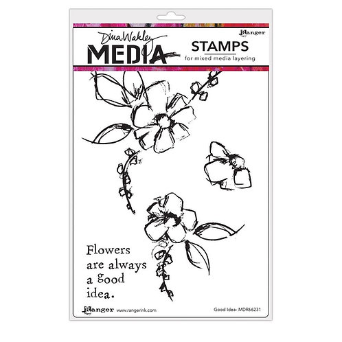 "Dina Wakley Mixed Media Cling Rubber Stamps ""Good Idea"""