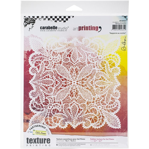 """""Napperon au Crochet"""" Carabelle Studio Art Printing Rubber Texture Plate"
