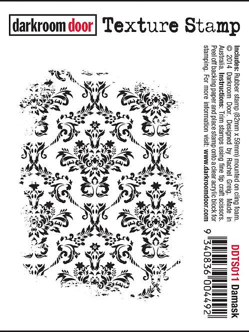"""Darkroom Door - """"Damask"""" Texture Rubber Stamp"""