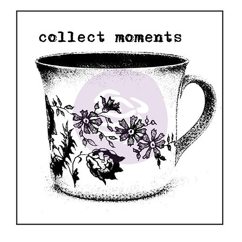 "Prima Finnabar ""Collect Moments"" 2"" x 2"" mounted Stamp"