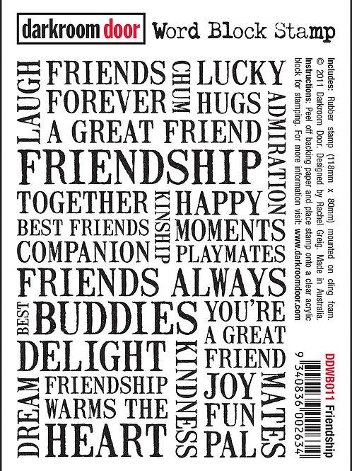 Friendship - Darkroom Door Word Block Stamp